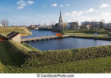 Kastellet fortress in Copenhagen - View from Kastellet...