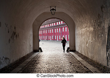 Kastellet fortress in Copenhagen - Inside gate of Kastellet...