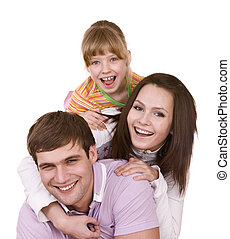 Happy family and child Isolated - Happy family and child...