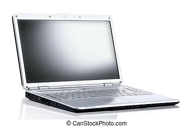 laptop computer isolated on white with clipping path