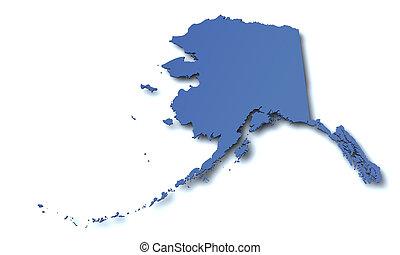 Map of Alaska - USA