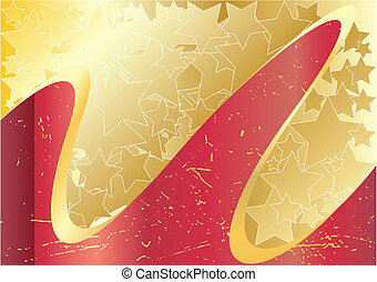 Vector abstract background with star