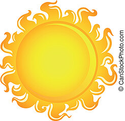 Sun theme image 1 - vector illustration.