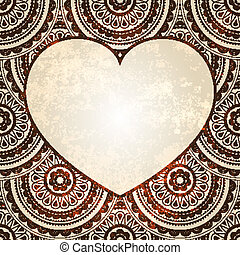 vectorheart on  seamless eastern floral  background