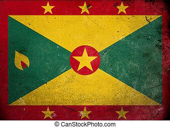 Grunge Flag of Grenada