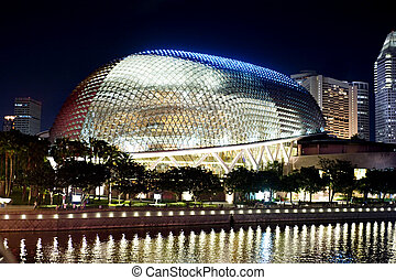 Esplanade Theatres on the Bay, on the waterfront of...