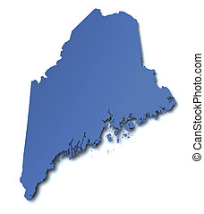 Map of Maine - USA
