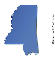 Map of Mississippi - USA