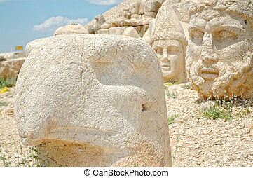 God heads on mount Nemrut, Turkey