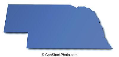 Map of Nebraska - USA