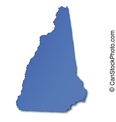 Map of New Hampshire - USA
