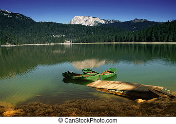 Lake in Durmitor Rak, Montenegro - Durmitor National Park,...
