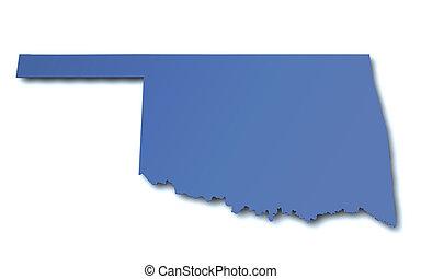 Map of Oklahoma - USA