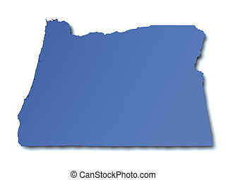 Map of Oregon - USA