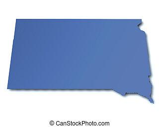 Map of South Dakota - USA