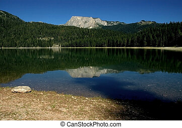 The Black lake, Durmitor mountains - Durmitor National Park,...