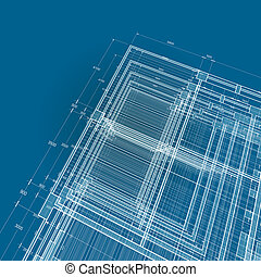 Abstract blueprint. My personal architectural project....