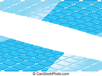 Vector abstract background with 3d square; clip-art