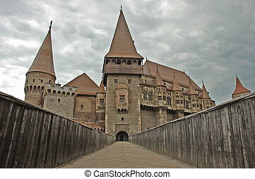 Castle in Transylvania - The castle of Vajdahunyad,...