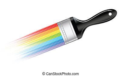 Vector brush; clip-art