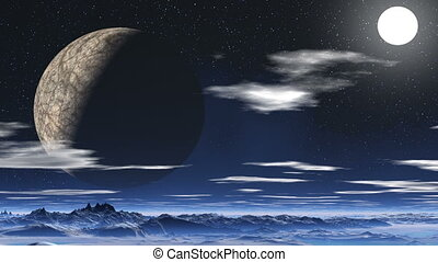 Major planet and the moon