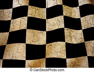 Grunge chequered flag