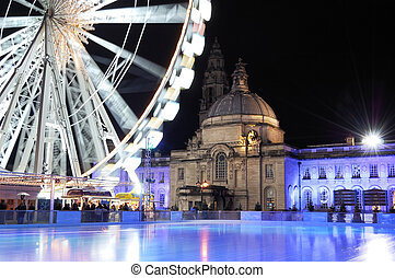 Empty Icerink, Winterwonderland, Cardiif. - An empty Ice...