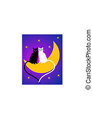 two cats on the Moon