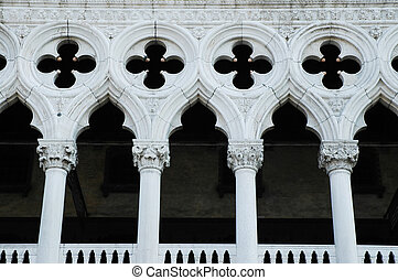 Doge palace, Venice - Architectural detail of Doges palace...