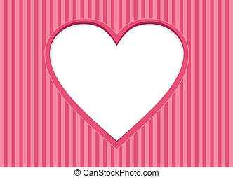 Greeting Card with heart frame. Background for Valentines...