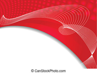 Vector abstract background in red color