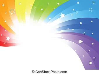 Vector abstract background in bright color; clip-art