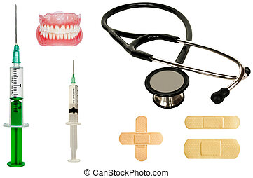 Set of medicine tools - medical concept