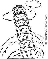 image pisa tower - illustration of image pisa tower