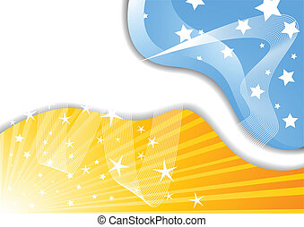 Vector background with star