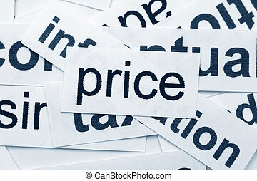 price word cloud