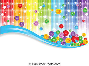 Vector abstract colorful background; clip-art