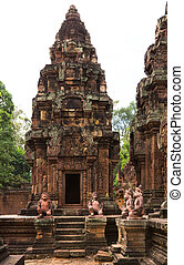Temple of Banteay Srei - Ancient Hindu temple of Banteay...