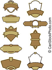 Set of 9 LogoLabel Vectors - A wide selection of vector...