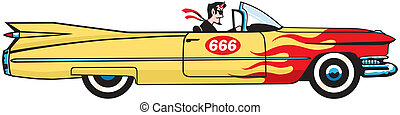 Satan%u2019s Cadillac - When the devil hits the town he...