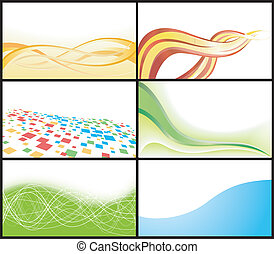 Vector business card; clip-art