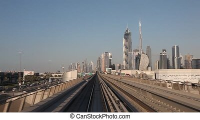 Ride with the Dubai Metro