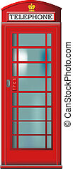 Telephone booth - English red telephone booth vector