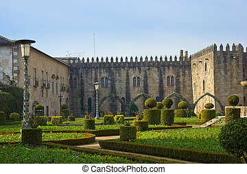 Palace of bishop, Braga, Portugal - Garden of St.Barbara's...