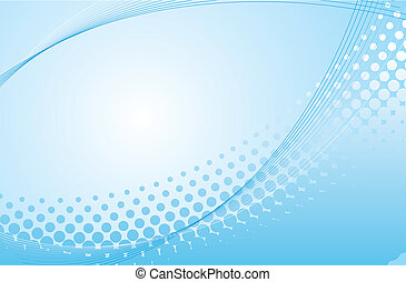 blue abstract halftone background in vector