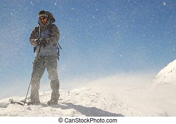 Climber on summit