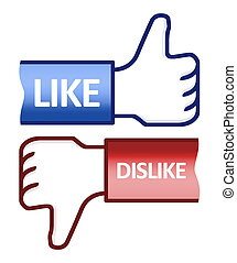 Thumb Up Like Dislike Symbol