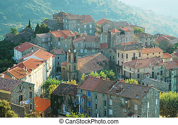 Santa Lucia di Tallano, Corsica - The small city of Santa...