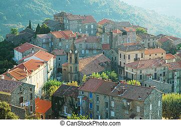 Santa Lucia di Tallano, Corsica - The small city of Santa...