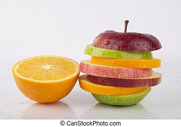 Fresh Orange and Mixed Sliced Fruit